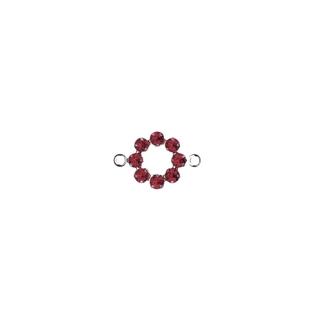 Accessoires bijoux Swarovski Couronne,2 oeuillets,15 mm<br />rouge classique