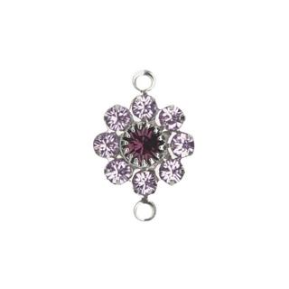Accessoires bijoux Swarovski Fleur, 2 oeuillets, 15 mm<br />violet