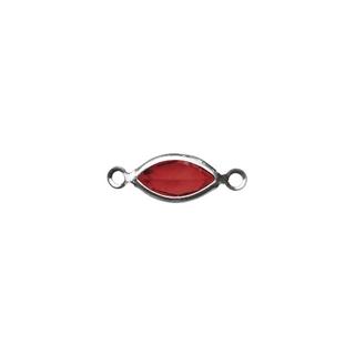 Accessoires bijoux Swarovski ovale, 2 oeuillets, 17 mm<br />rouge classique