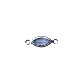 Accessoires bijoux Swarovski ovale, 2 oeuillets, 17 mm<br />bleu royal