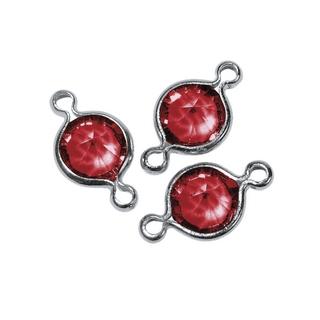 Accessoires bijoux Swarovski rond, 2 oeuillets, 11 mm<br />rouge classique