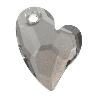 Breloque Swarovski cristal facette  17mm Devoted 2 U Heart<br />gris acier