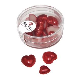 Coeur en plastique, 2 tailles 8x1,5 cm, 16x1,0 cm<br />rouge