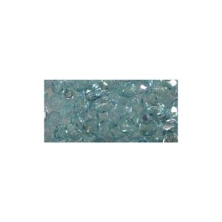 Perle facettee en verre, 3 mm ø irisee<br />turquoise