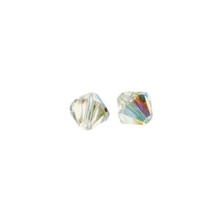Perles cristal Swarovski 3 mm bte. de 50 pces<br />aurore boreale