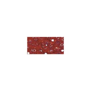 Perles transparentes en verre depolis 6 mm ø Irisees<br />rubis