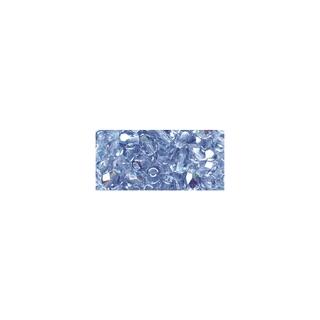 Perles transparentes en verre depolis 6 mm ø Irisees<br />aigue-marine