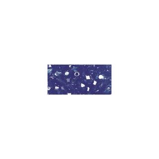 Perles transparentes en verre depolis 6 mm ø Irisees<br />saphir