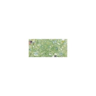 Perles transparentes en verre depolis 6 mm ø Irisees<br />jaspe