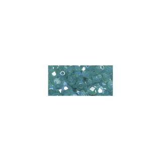 Perles transparentes en verre depolis 6 mm ø Irisees<br />emeraude