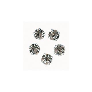 Pierres strass 10 mm, rondes<br />cristal