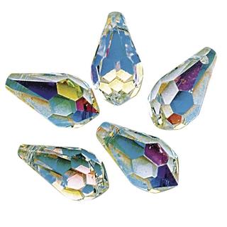 Swarovski Goutte cristal 11x5,5 mm<br />aurore boreale