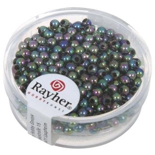 Perles de cire, 3 mm ø<br />noir irise