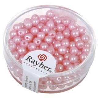 Perles de cire, 4 mm ø<br />rose