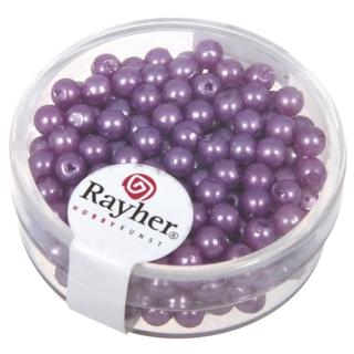 Perles de cire, 4 mm ø<br />lilas fonce