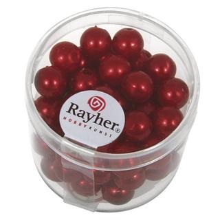 Perles de cire, 8 mm ø<br />rouge