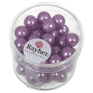 Perles de cire, 8 mm ø<br />lilas fonce