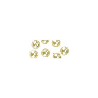 Perles en cire, 6mm ø<br />jaune,