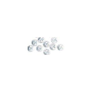 Perles en cire, 6mm ø<br />iris, blanc,