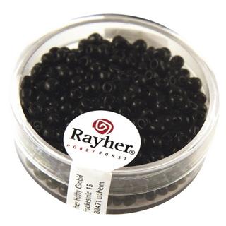 Rocailles, 2,6 mm ø, opaques<br />noir