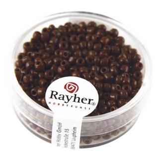 Rocailles, 2,6 mm ø, opaques<br />brun fonce