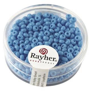 Rocailles, 2,6 mm ø, opaques<br />bleu clair