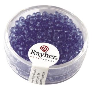 Rocailles, 2,6 mm ø, transparentes<br />bleu clair