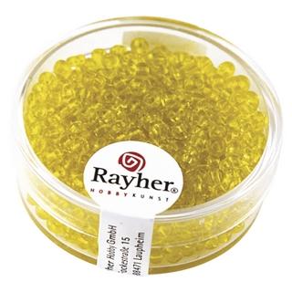 Rocailles, 2,6 mm ø, transparentes<br />jaune