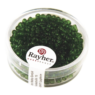 Rocailles, 2,6 mm ø, transparentes<br />vert
