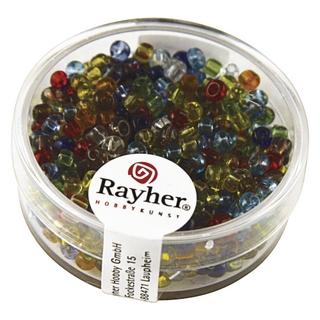 Rocailles, 2,6 mm ø, transparentes<br />assorties