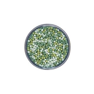 Rocailles, nacrees, 2,6 mm ø<br />Teintes vertes