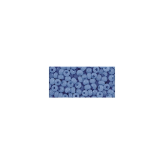 Rocailles, 2,6 mm ø, albâtres<br />bleu clair