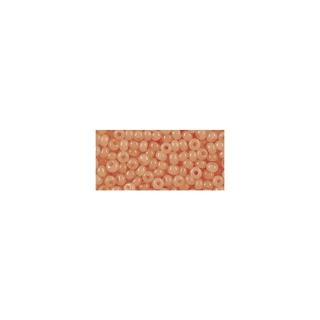 Rocailles, 2,6 mm ø, albâtres<br />orange