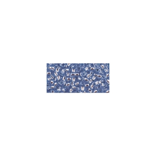 Rocailles, avec garniture d'argent, 2,6 mm ø<br />bleu moyen