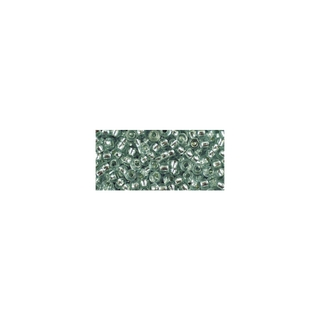 Rocailles, avec garniture d'argent, 2,6 mm ø<br />jade