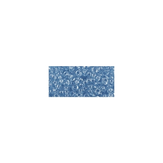 Rocailles, transparentes, 2,6 mm ø<br />bleu clair