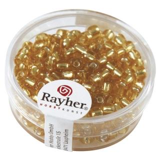 Rocailles avec garniture d'argent, 4 mm<br />or
