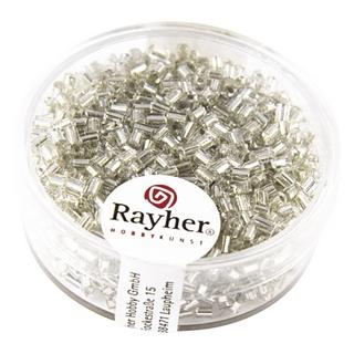 Chevilles en verre av,garniture d'argent 2x2 mm<br />argent