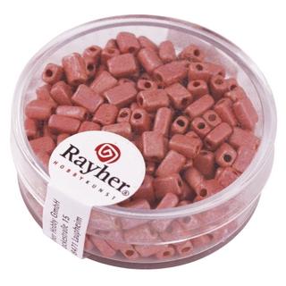 Metallic-rectangle, depoli 5x3,5 mm<br />rose