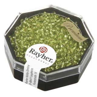 Premium-rocailles, 2,2 mm ø garniture d'argent<br />citron, boîte 12 g