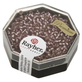 Premium-rocailles, 2,2 mm ø garniture d'argent<br />rosa chiffon,