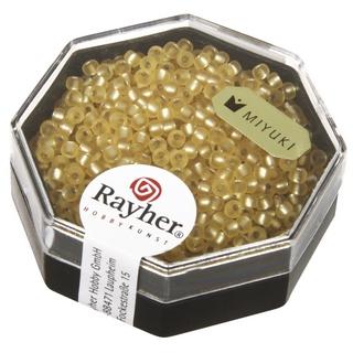Premium-rocailles, 2,2 mm ø garniture d'argent, givre<br />ombre or