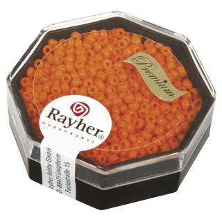 Premium-rocailles, 2,2 mm ø opaque<br />orange capri, boîte 8 g