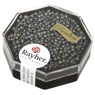 Premium-rocailles, 2,2 mm ø metallic givre<br />anthracite