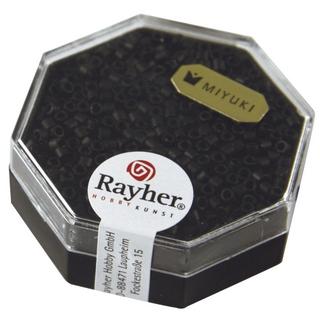 Delica-rocailles, 2,2 mm ø metallic depoli<br />noir