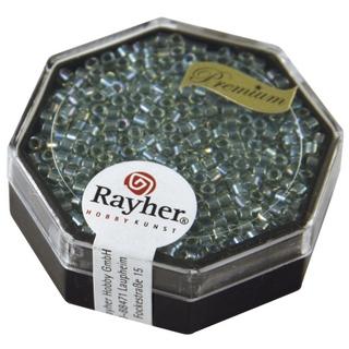 Delica-rocailles, 2,2 mm ø transparent<br />aigue-marine