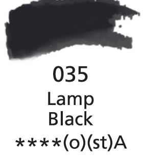 Aquarelles Extra-Fines Artist's<br />Lamp Black (A)