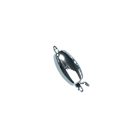 Fermoir bijou,11,7x6,4mm, ovale, lisse 1rang sans nickel,pce<br />argent
