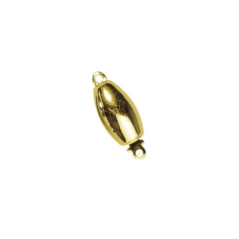 Fermoir bijou 11,7x6,4mm, ovale, lisse 1rang sans nickel,pce<br />dore