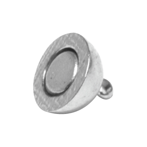 Fermoir magnetique, extra fort ø 10 mm, sans nickel, pièce<br />argente